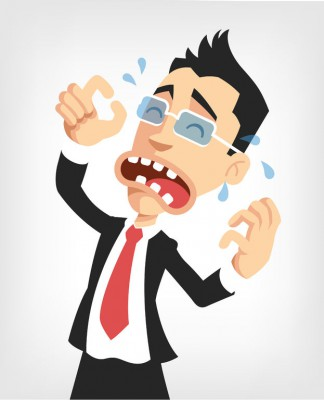 41255946 - frustrated businessman. vector flat illustration